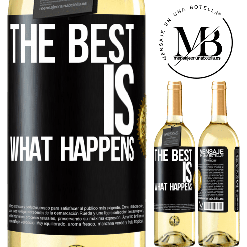 24,95 € Free Shipping | White Wine WHITE Edition The best is what happens Black Label. Customizable label Young wine Harvest 2020 Verdejo