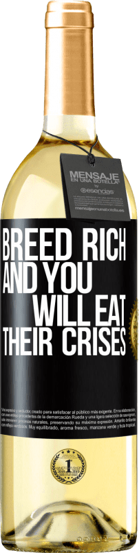 24,95 € Free Shipping | White Wine WHITE Edition Breed rich and you will eat their crises Black Label. Customizable label Young wine Harvest 2020 Verdejo