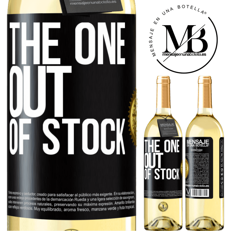 24,95 € Free Shipping   White Wine WHITE Edition The one out of stock Black Label. Customizable label Young wine Harvest 2020 Verdejo