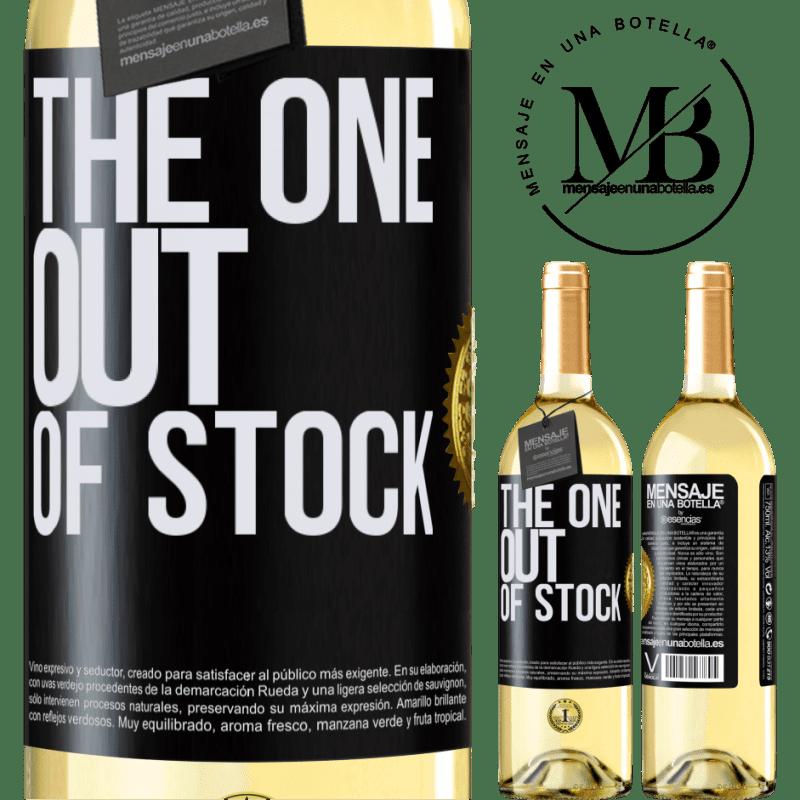 24,95 € Envío gratis | Vino Blanco Edición WHITE The one out of stock Etiqueta Negra. Etiqueta personalizable Vino joven Cosecha 2020 Verdejo