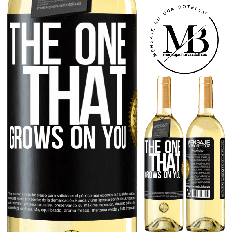 24,95 € Free Shipping | White Wine WHITE Edition The one that grows on you Black Label. Customizable label Young wine Harvest 2020 Verdejo