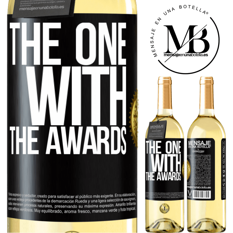 24,95 € Free Shipping | White Wine WHITE Edition The one with the awards Black Label. Customizable label Young wine Harvest 2020 Verdejo