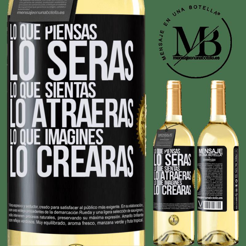 24,95 € Envío gratis   Vino Blanco Edición WHITE Lo que piensas lo serás, lo que sientas lo atraerás, lo que imagines lo crearas Etiqueta Negra. Etiqueta personalizable Vino joven Cosecha 2020 Verdejo