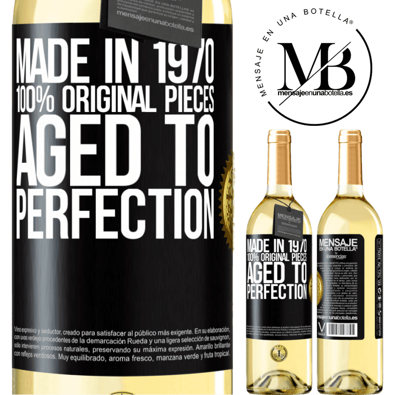 24,95 € Free Shipping | White Wine WHITE Edition Made in 1970, 100% original pieces. Aged to perfection Black Label. Customizable label Young wine Harvest 2020 Verdejo
