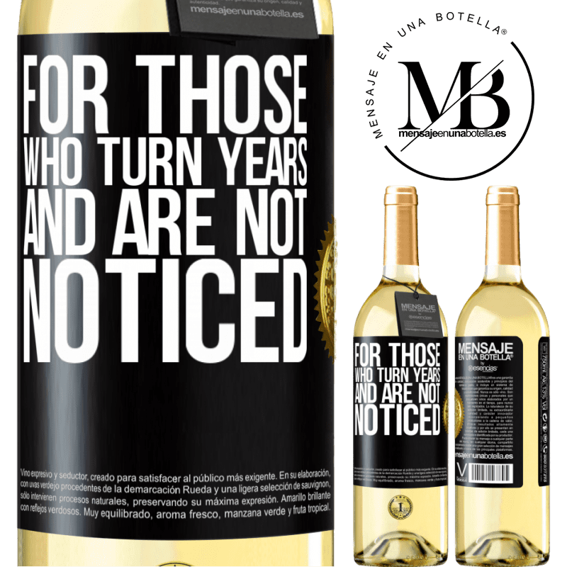 24,95 € Free Shipping | White Wine WHITE Edition For those who turn years and are not noticed Black Label. Customizable label Young wine Harvest 2020 Verdejo