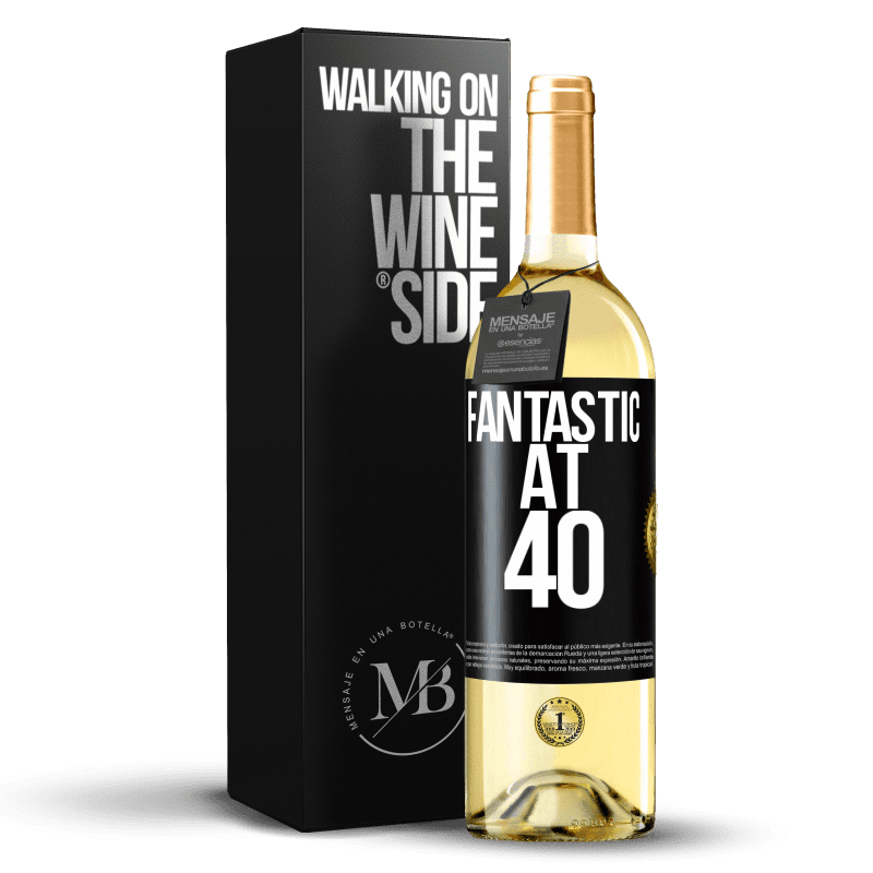 24,95 € Free Shipping   White Wine WHITE Edition Fantastic at 40 Black Label. Customizable label Young wine Harvest 2020 Verdejo