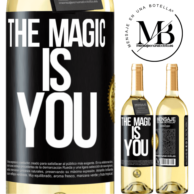 24,95 € Free Shipping   White Wine WHITE Edition The magic is you Black Label. Customizable label Young wine Harvest 2020 Verdejo
