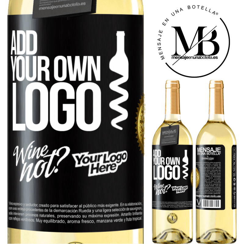 24,95 € Free Shipping | White Wine WHITE Edition Add your own logo Black Label. Customizable label Young wine Harvest 2020 Verdejo