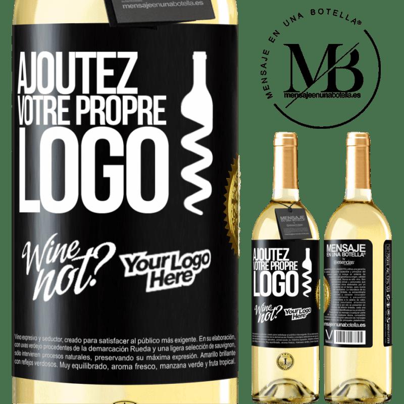 24,95 € Envoi gratuit | Vin blanc Édition WHITE Ajoutez votre propre logo Étiquette Noire. Étiquette personnalisable Vin jeune Récolte 2020 Verdejo