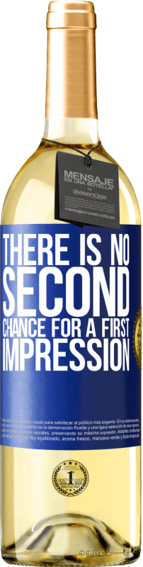 24,95 € Free Shipping   White Wine WHITE Edition There is no second chance for a first impression Blue Label. Customizable label Young wine Harvest 2020 Verdejo