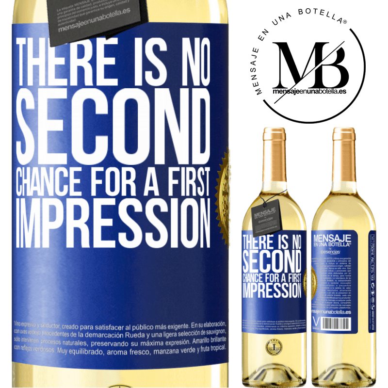 24,95 € Free Shipping | White Wine WHITE Edition There is no second chance for a first impression Blue Label. Customizable label Young wine Harvest 2020 Verdejo