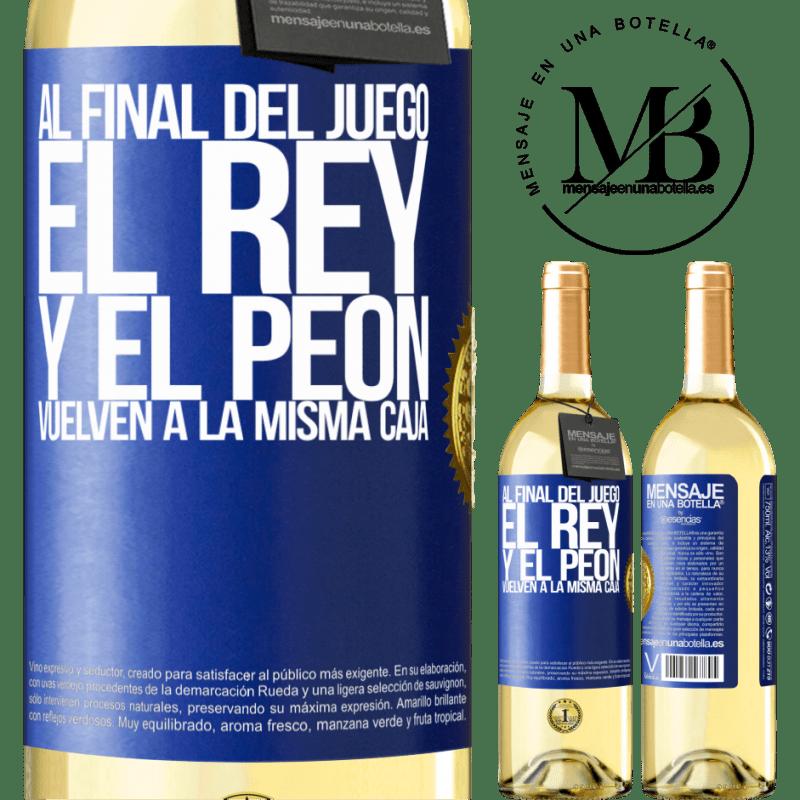 24,95 € Envoi gratuit   Vin blanc Édition WHITE A la fin de la partie, le roi et le pion retournent dans la même case Étiquette Bleue. Étiquette personnalisable Vin jeune Récolte 2020 Verdejo