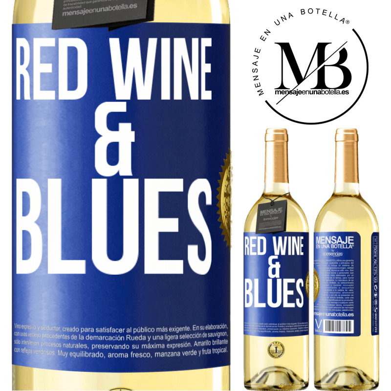 24,95 € Free Shipping | White Wine WHITE Edition Red wine & Blues Blue Label. Customizable label Young wine Harvest 2020 Verdejo