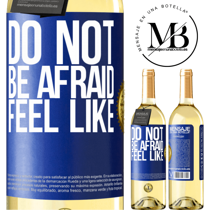 24,95 € Free Shipping   White Wine WHITE Edition Do not be afraid. Feel like Blue Label. Customizable label Young wine Harvest 2020 Verdejo
