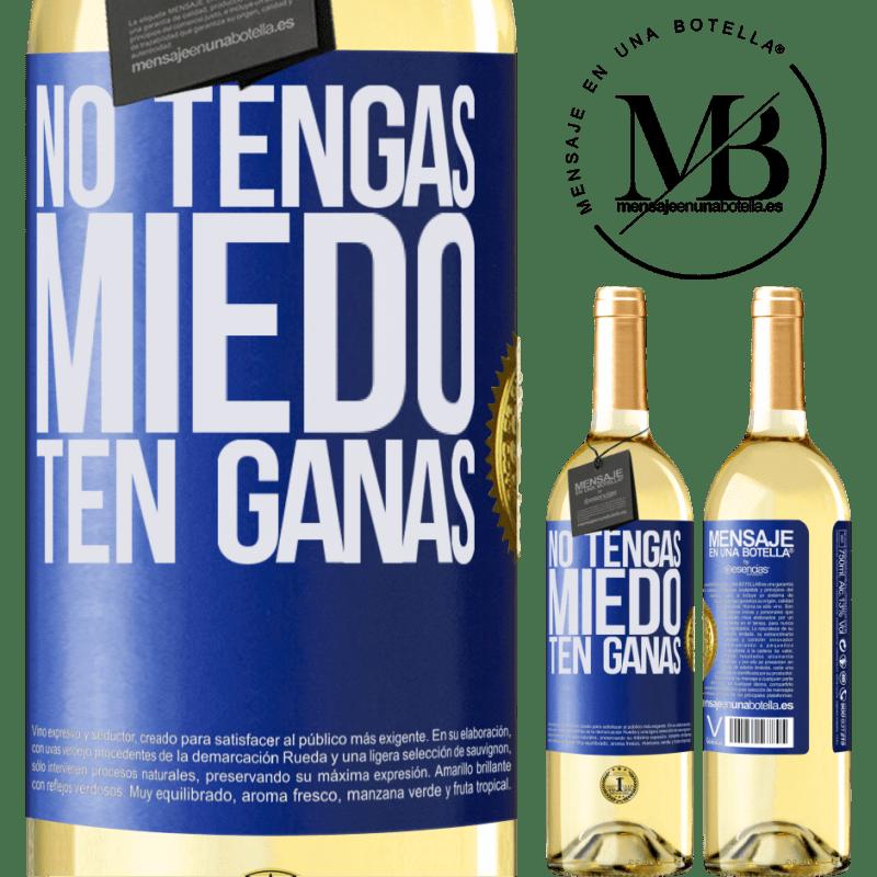 24,95 € Envoi gratuit   Vin blanc Édition WHITE N'ayez pas peur. Envie Étiquette Bleue. Étiquette personnalisable Vin jeune Récolte 2020 Verdejo