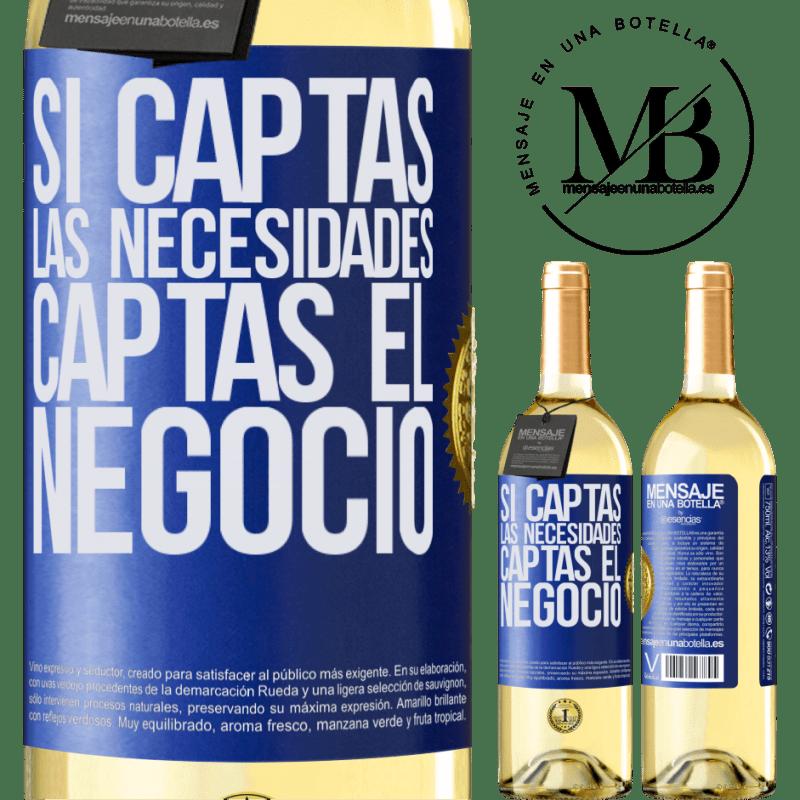 24,95 € Envoi gratuit | Vin blanc Édition WHITE Si vous obtenez les besoins, vous obtenez l'entreprise Étiquette Bleue. Étiquette personnalisable Vin jeune Récolte 2020 Verdejo