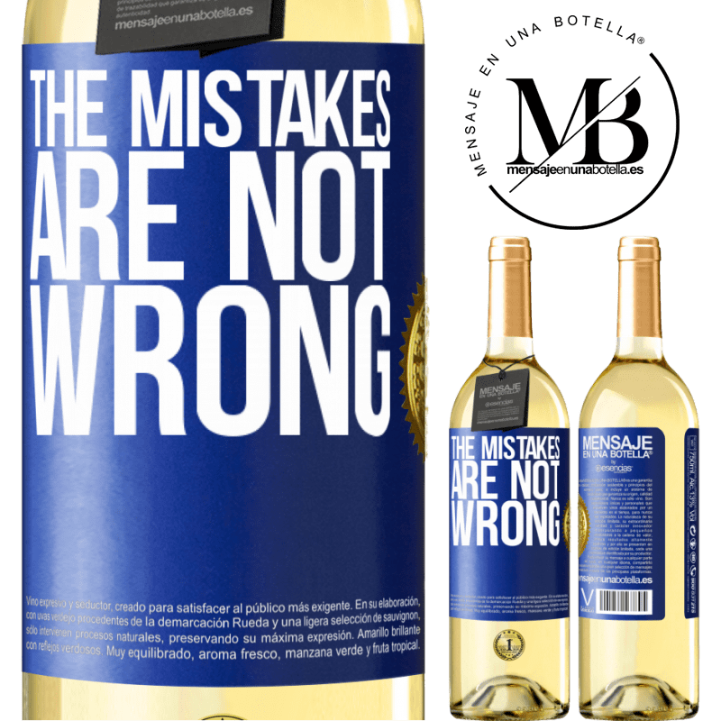 24,95 € Free Shipping   White Wine WHITE Edition The mistakes are not wrong Blue Label. Customizable label Young wine Harvest 2020 Verdejo