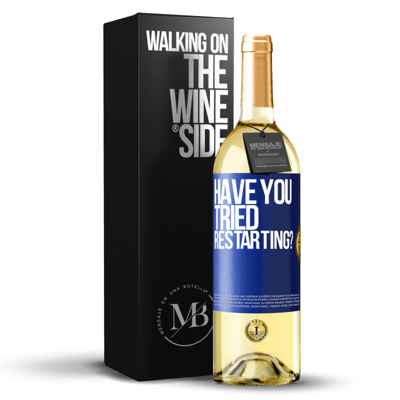 24,95 € Free Shipping   White Wine WHITE Edition have you tried restarting? Blue Label. Customizable label Young wine Harvest 2020 Verdejo