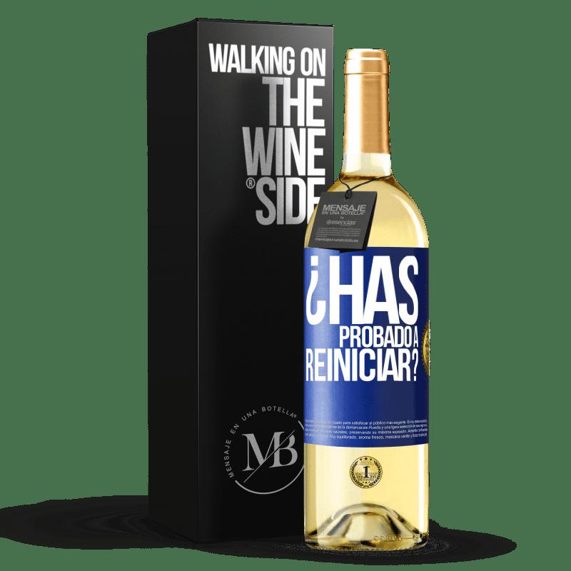24,95 € Envoi gratuit | Vin blanc Édition WHITE avez-vous essayé de redémarrer? Étiquette Bleue. Étiquette personnalisable Vin jeune Récolte 2020 Verdejo