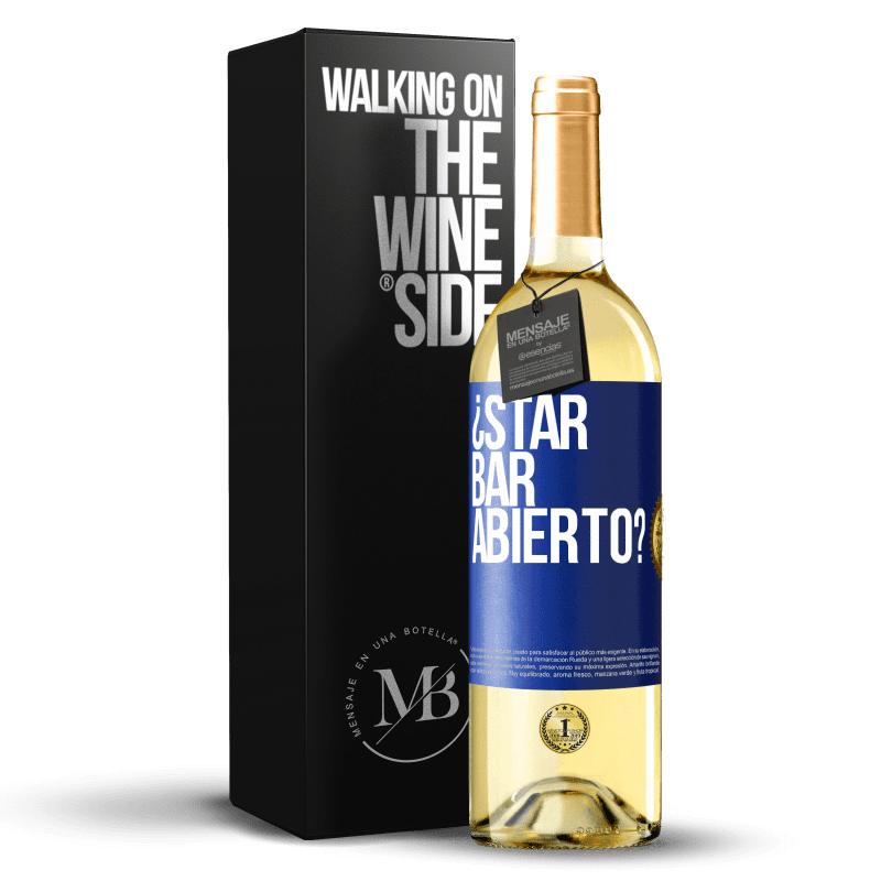 24,95 € Free Shipping | White Wine WHITE Edition ¿STAR BAR abierto? Blue Label. Customizable label Young wine Harvest 2020 Verdejo