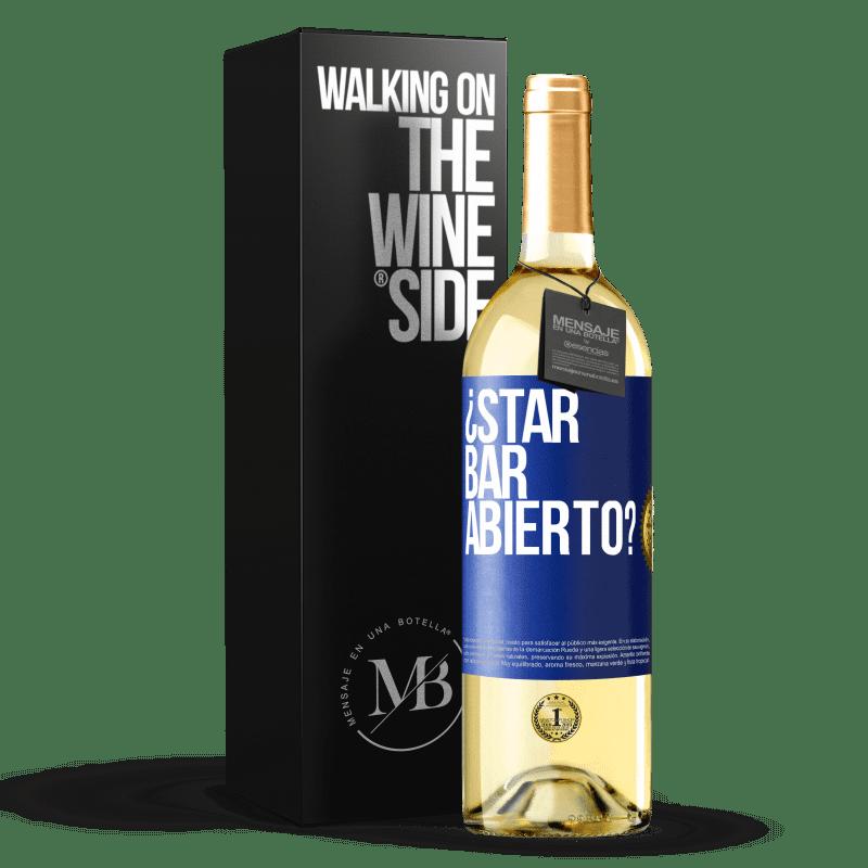 24,95 € Envoi gratuit | Vin blanc Édition WHITE ¿STAR BAR abierto? Étiquette Bleue. Étiquette personnalisable Vin jeune Récolte 2020 Verdejo