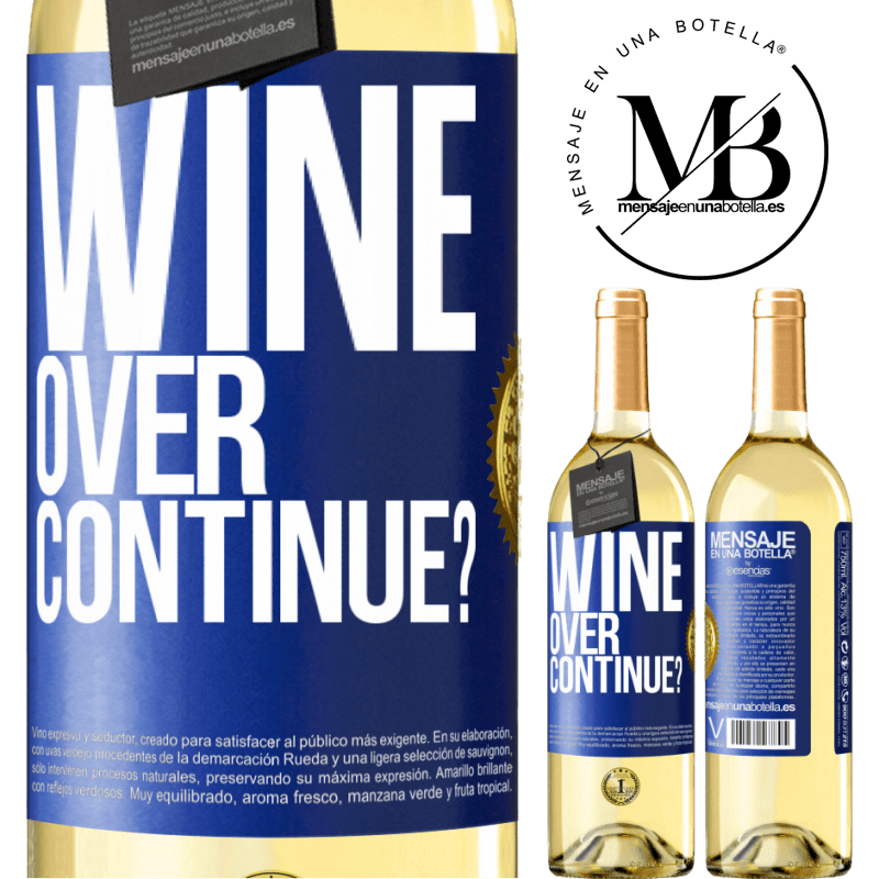 24,95 € Free Shipping | White Wine WHITE Edition Wine over. Continue? Blue Label. Customizable label Young wine Harvest 2020 Verdejo