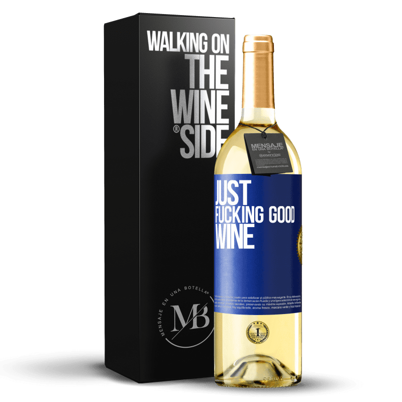 24,95 € Free Shipping | White Wine WHITE Edition Just fucking good wine Blue Label. Customizable label Young wine Harvest 2020 Verdejo