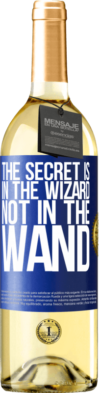 24,95 € Free Shipping | White Wine WHITE Edition The secret is in the wizard, not in the wand Blue Label. Customizable label Young wine Harvest 2020 Verdejo
