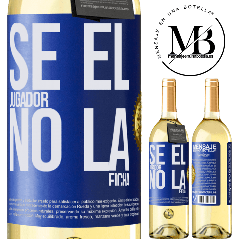 24,95 € Envío gratis   Vino Blanco Edición WHITE Se el jugador, no la ficha Etiqueta Azul. Etiqueta personalizable Vino joven Cosecha 2020 Verdejo