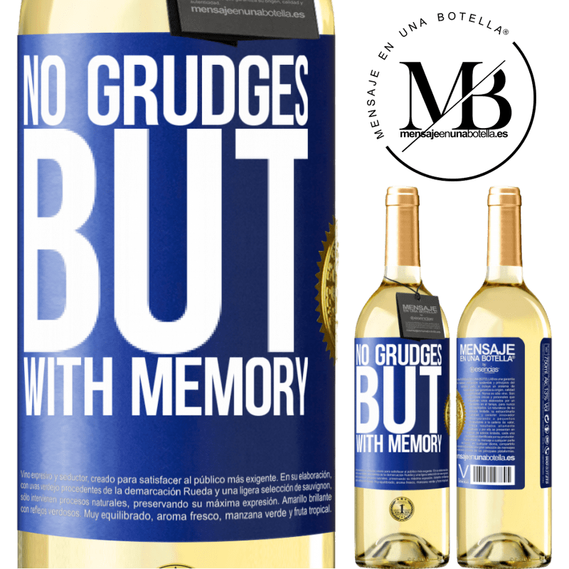 24,95 € Free Shipping   White Wine WHITE Edition No grudges, but with memory Blue Label. Customizable label Young wine Harvest 2020 Verdejo
