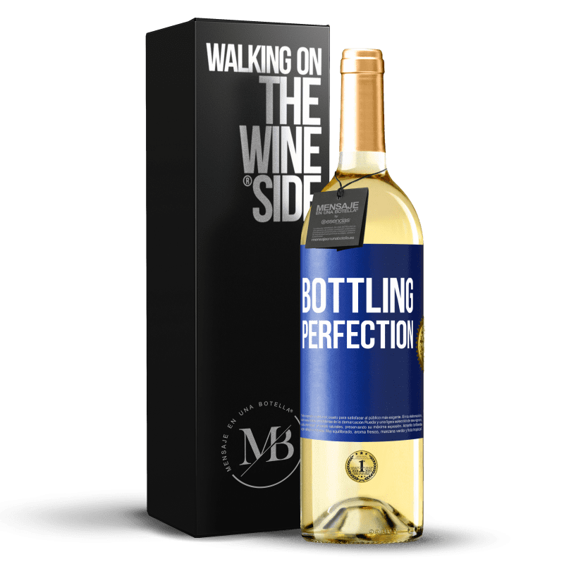 24,95 € Free Shipping | White Wine WHITE Edition Bottling perfection Blue Label. Customizable label Young wine Harvest 2020 Verdejo