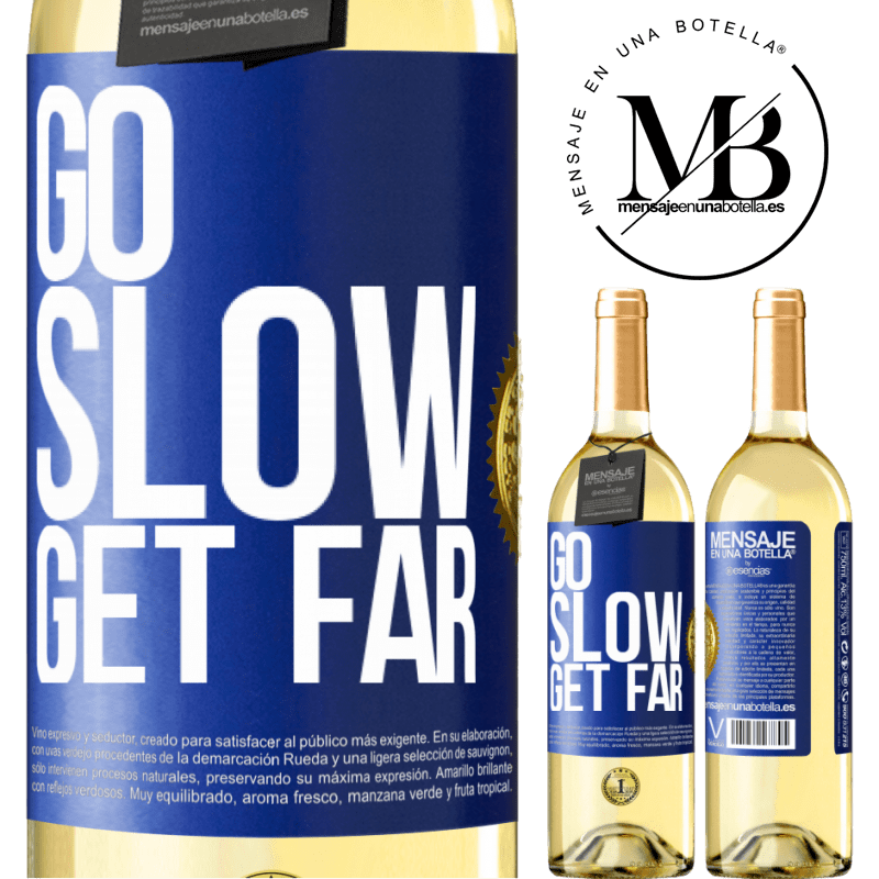 24,95 € Free Shipping   White Wine WHITE Edition Go slow. Get far Blue Label. Customizable label Young wine Harvest 2020 Verdejo