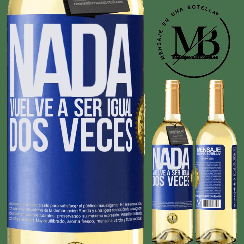24,95 € Envío gratis   Vino Blanco Edición WHITE Nada vuelve a ser igual dos veces Etiqueta Azul. Etiqueta personalizable Vino joven Cosecha 2020 Verdejo