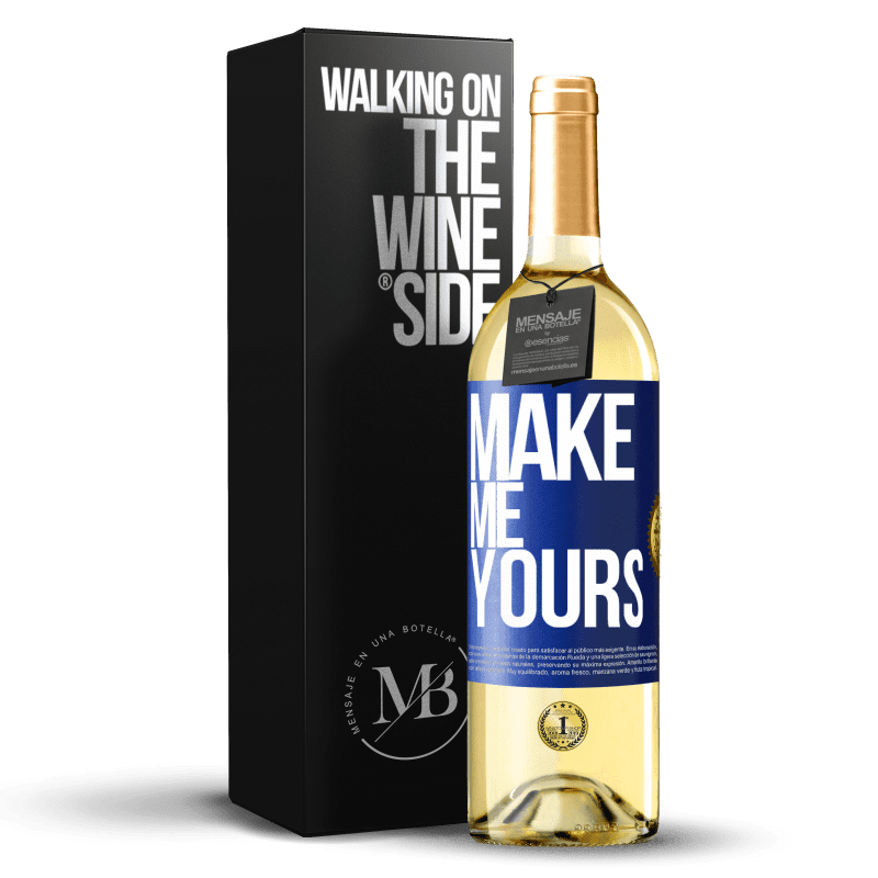 24,95 € Free Shipping | White Wine WHITE Edition Make me yours Blue Label. Customizable label Young wine Harvest 2020 Verdejo