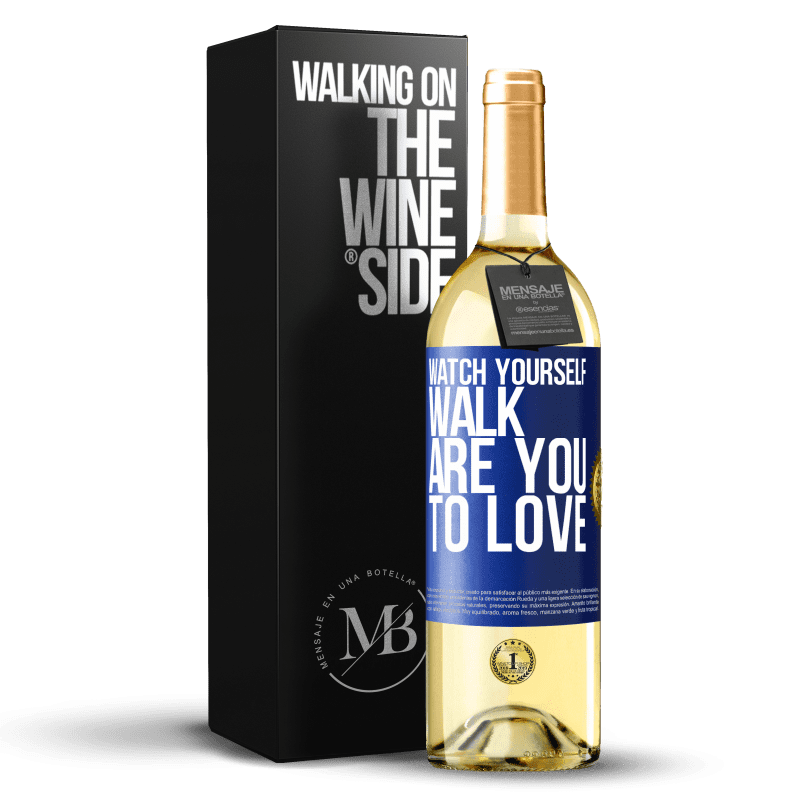 24,95 € Free Shipping   White Wine WHITE Edition Watch yourself walk. Are you to love Blue Label. Customizable label Young wine Harvest 2020 Verdejo
