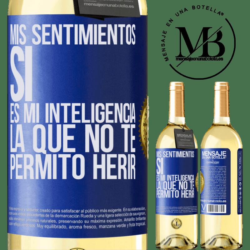 24,95 € Envoi gratuit   Vin blanc Édition WHITE Mes sentiments, oui. C'est mon intelligence que je ne te laisse pas faire de mal Étiquette Bleue. Étiquette personnalisable Vin jeune Récolte 2020 Verdejo