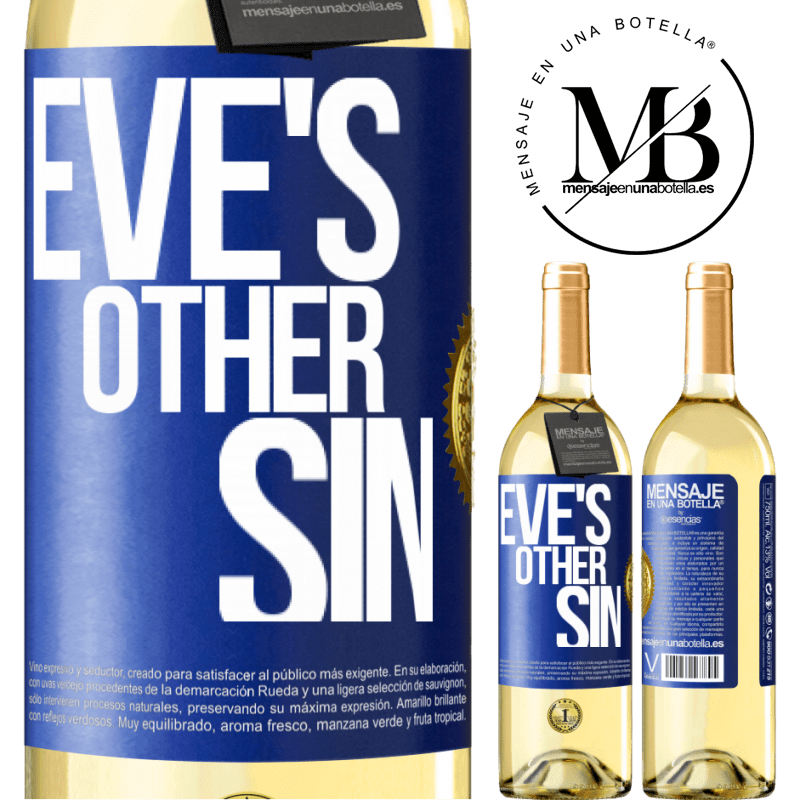 24,95 € Free Shipping | White Wine WHITE Edition Eve's other sin Blue Label. Customizable label Young wine Harvest 2020 Verdejo