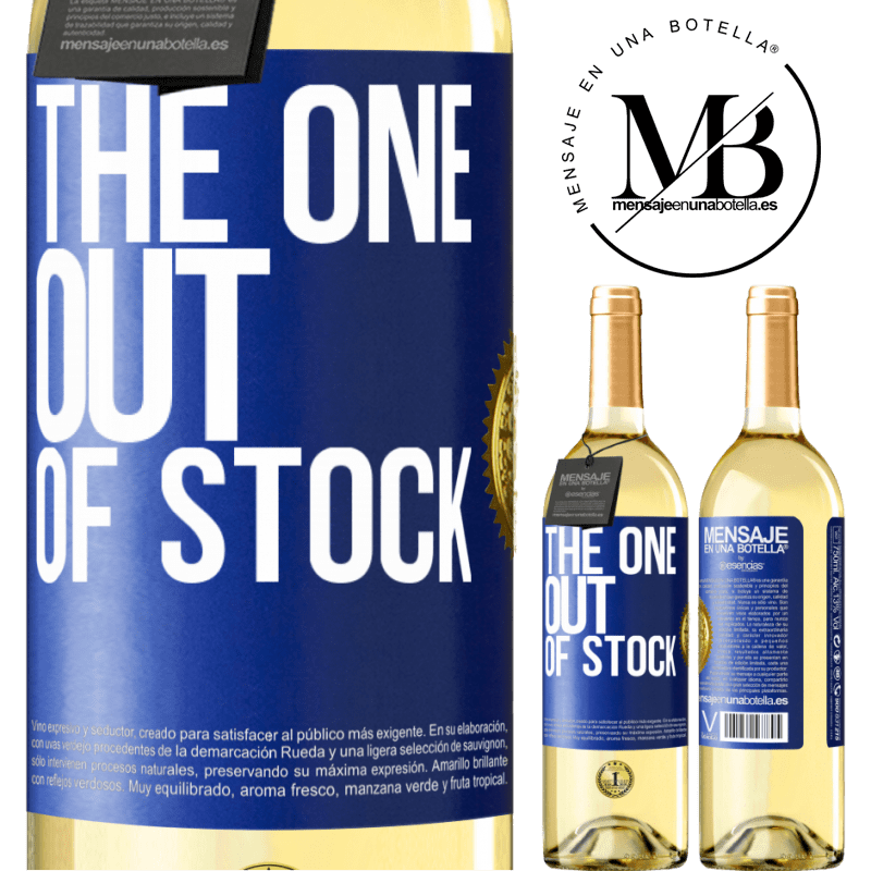 24,95 € Free Shipping   White Wine WHITE Edition The one out of stock Blue Label. Customizable label Young wine Harvest 2020 Verdejo