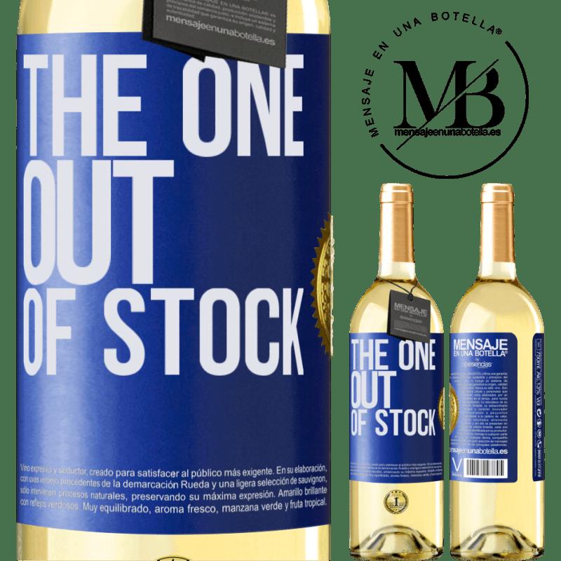 24,95 € Envío gratis | Vino Blanco Edición WHITE The one out of stock Etiqueta Azul. Etiqueta personalizable Vino joven Cosecha 2020 Verdejo