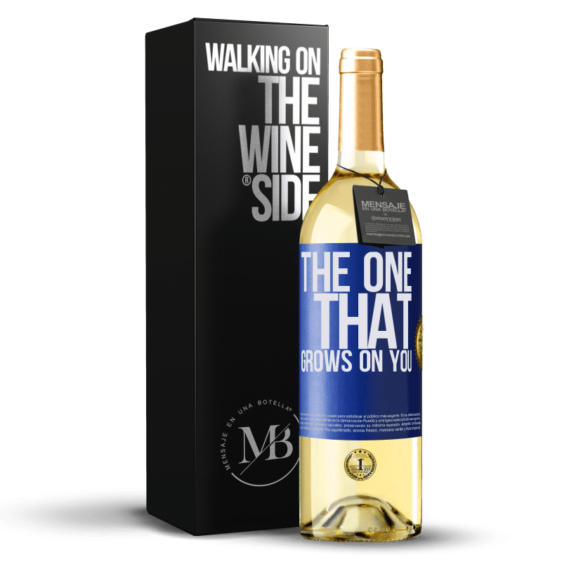24,95 € Envoi gratuit   Vin blanc Édition WHITE The one that grows on you Étiquette Bleue. Étiquette personnalisable Vin jeune Récolte 2020 Verdejo