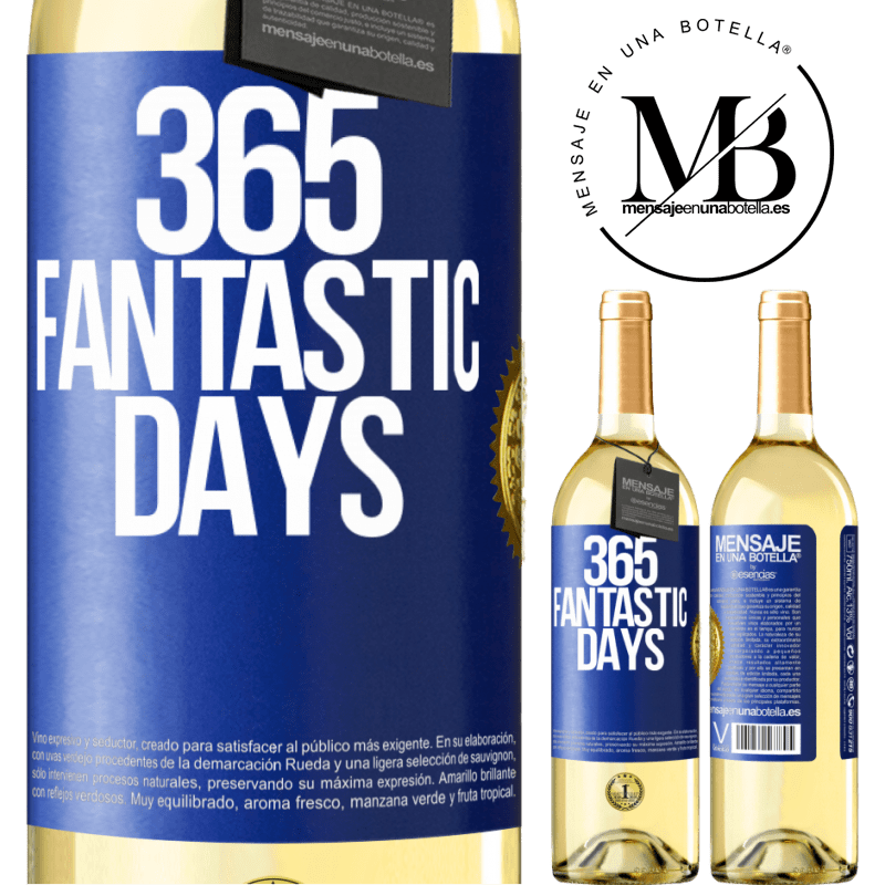 24,95 € Free Shipping   White Wine WHITE Edition 365 fantastic days Blue Label. Customizable label Young wine Harvest 2020 Verdejo