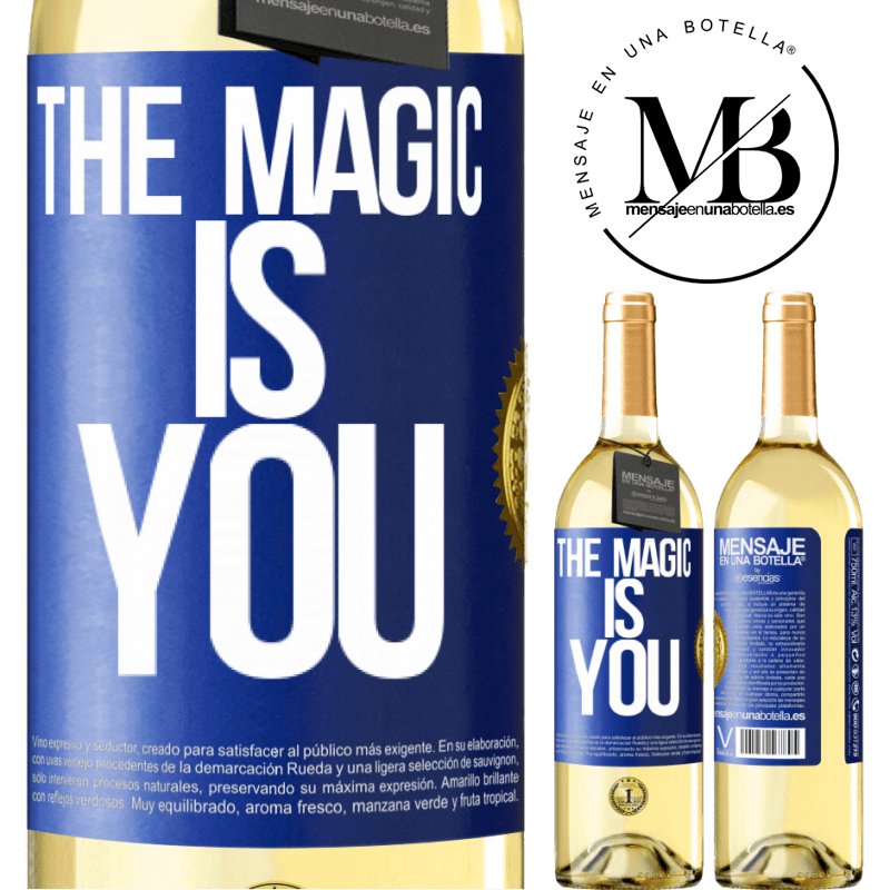24,95 € Free Shipping   White Wine WHITE Edition The magic is you Blue Label. Customizable label Young wine Harvest 2020 Verdejo