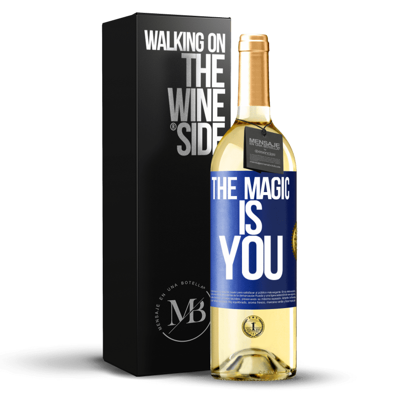 24,95 € Free Shipping | White Wine WHITE Edition The magic is you Blue Label. Customizable label Young wine Harvest 2020 Verdejo