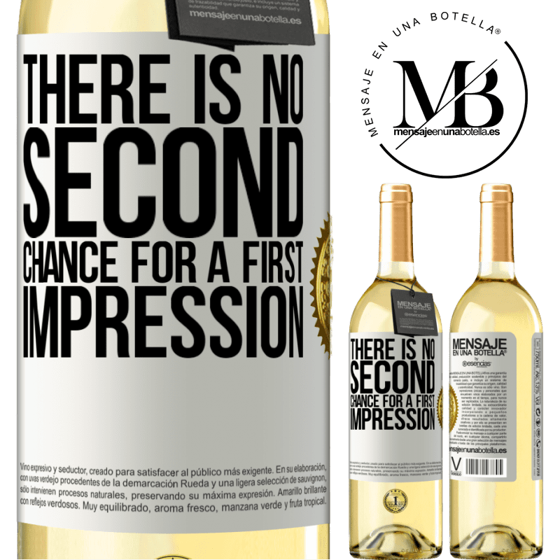 24,95 € Free Shipping | White Wine WHITE Edition There is no second chance for a first impression White Label. Customizable label Young wine Harvest 2020 Verdejo