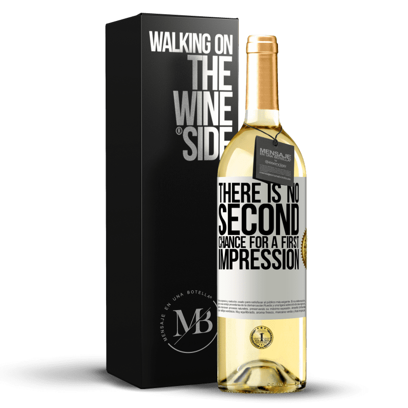 24,95 € Free Shipping   White Wine WHITE Edition There is no second chance for a first impression White Label. Customizable label Young wine Harvest 2020 Verdejo