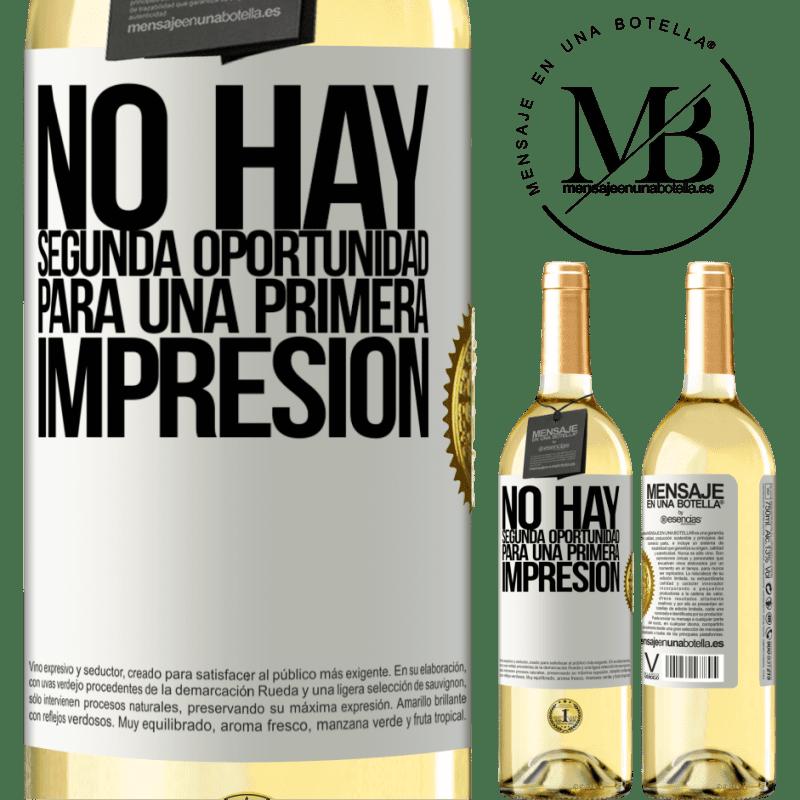 24,95 € Envoi gratuit | Vin blanc Édition WHITE Il n'y a pas de seconde chance pour une première impression Étiquette Blanche. Étiquette personnalisable Vin jeune Récolte 2020 Verdejo