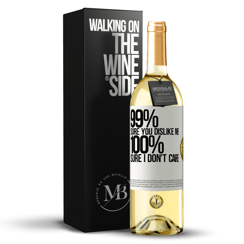 24,95 € Free Shipping   White Wine WHITE Edition 99% sure you like me. 100% sure I don't care White Label. Customizable label Young wine Harvest 2020 Verdejo