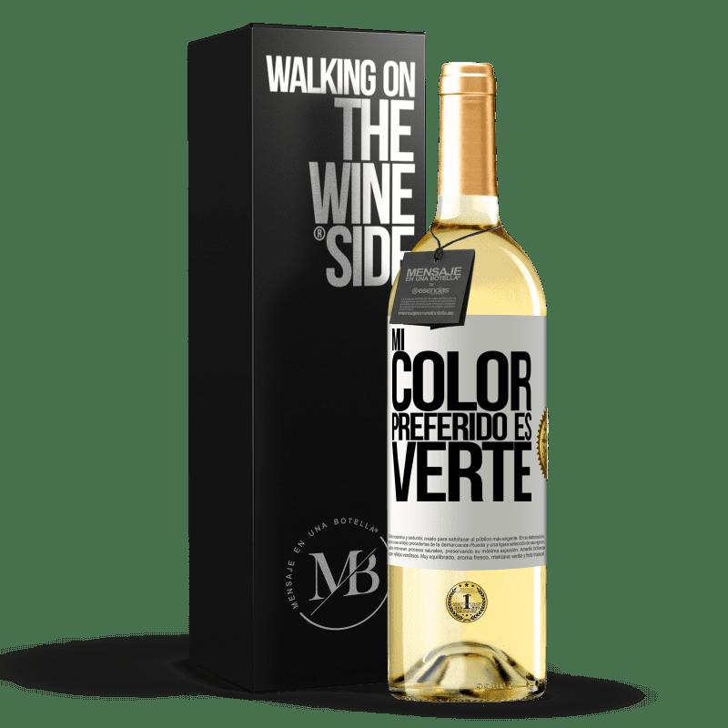 24,95 € Free Shipping   White Wine WHITE Edition Mi color preferido es: verte White Label. Customizable label Young wine Harvest 2020 Verdejo