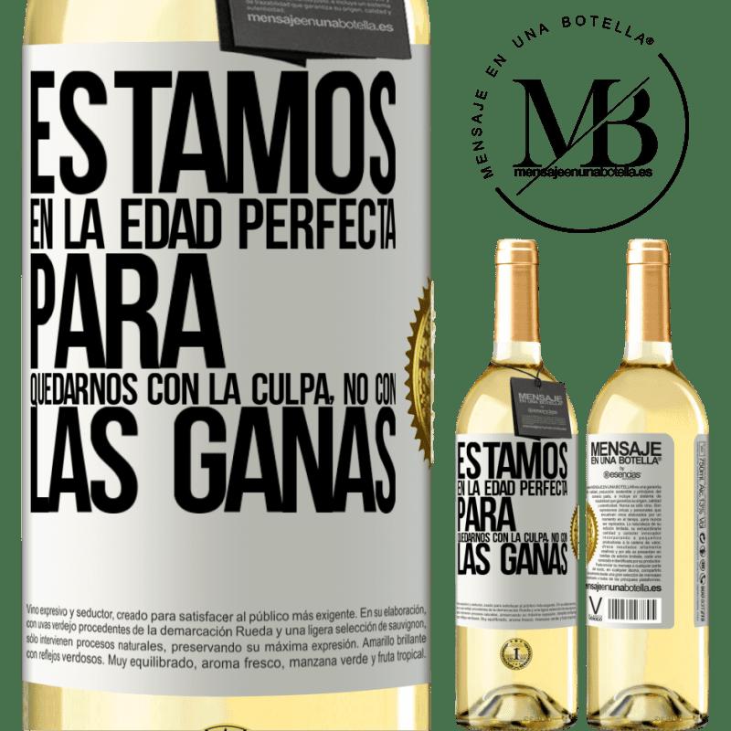 24,95 € Envoi gratuit   Vin blanc Édition WHITE Nous sommes dans l'âge parfait pour garder le blâme, pas le désir Étiquette Blanche. Étiquette personnalisable Vin jeune Récolte 2020 Verdejo