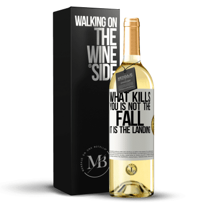 «What kills you is not the fall, it is the landing» WHITE Edition
